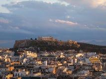 Akropolis in Athene, Griekenland Stock Fotografie