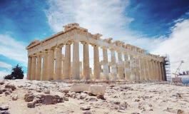 Akropolis in Athene, Griekenland Stock Foto