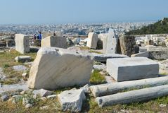 Akropolis in Athene, Griekenland op 16 Juni, 2017 Stock Fotografie