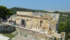 Akropolis in Athene, Griekenland op 16 Juni, 2017 Stock Foto