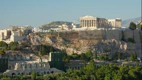 Akropolis, Athene, Griekenland, Timelapse, gezoem binnen, 4k stock videobeelden
