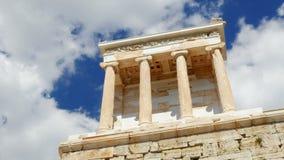 Akropolis, Athene, Griekenland, Timelapse, gezoem uit, 4k