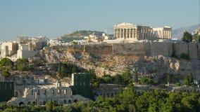 Akropolis, Athene, Griekenland, Timelapse, gezoem uit, 4k stock footage
