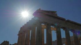 Akropolis, Athene, Griekenland, Timelapse, 4k stock video