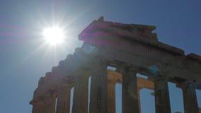 Akropolis, Athene, Griekenland, Timelapse, 4k stock videobeelden