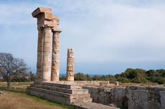 Akropolis bei Rhodos Stockbild