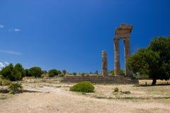 Akropolis d'architecture de bâtiments historiques de Rhodos Photos stock