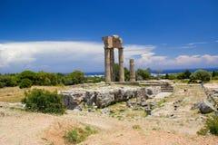 Akropolis d'architecture de bâtiments historiques de Rhodos ruine antique Images libres de droits