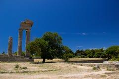 Akropolis d'architecture de bâtiments historiques de Rhodos ruine antique Photo stock