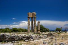 Akropolis de Rhodos Grèce Photos stock
