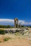 Akropolis des ruines d'architecture de bâtiments historiques de Rhodos Image stock