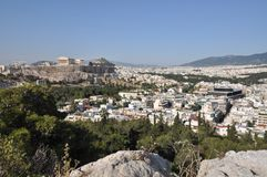 Akropolis em Atenas Greece Fotos de Stock