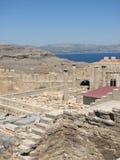 Akropolis Lindos lizenzfreies stockbild