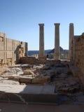 Akropolis in Lindos, Rhodos-Insel Lizenzfreie Stockfotografie
