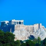 Akropolis mit Parthenon, Athen, Griechenland Stockfotografie