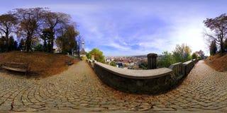 Akropolis-Park (› Parcul CetÄƒÈ uia), Klausenburg-Napoca, Rumänien Stockfotos