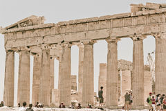 Akropolis Partenon Atenas Griechenland Stockbilder