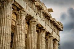 Akropolis, Parthenon stockbild