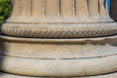 Akropolis Parthenon van Athene in van de de Kolompijler van Griekenland Dichte Omhooggaand Stock Afbeelding