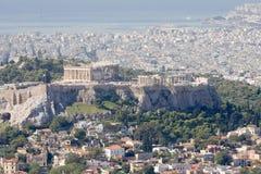 Akropolis, Plaka, en Saronic golf, Athene Stock Afbeeldingen