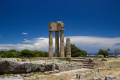 Akropolis of Rhodos Greece Stock Photos