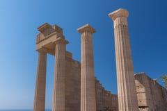 Akropolis-Tempel Lindos Lizenzfreie Stockfotografie