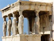 Akropolis van Athen met Tempel Parthenon Stock Afbeeldingen