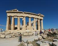 Akropolis van Athene stock afbeeldingen