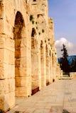 Akropolis van Athene, architecturaal monument, toeristische attractie royalty-vrije stock afbeeldingen