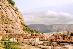 Akropolis van Athene, architecturaal monument, toeristische attractie royalty-vrije stock foto