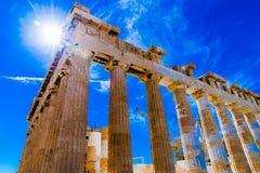 Akropolis van Athene Griekenland Stock Foto's