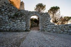 Akropolis van Civitavecchia Di Arpino, Italië stock fotografie