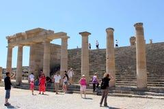 Akropolis van Lindos Royalty-vrije Stock Fotografie