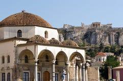 Akropolis van Monasteraki Stock Foto's