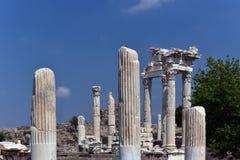 Akropolis van Pergamon Stock Afbeeldingen