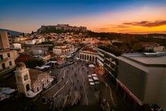 Akropolis von Athen Stockfotos