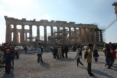 Akropolis von Athen Griechenland Lizenzfreie Stockfotografie
