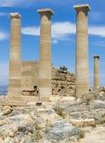 Akropolis von Lindos Stockbild