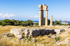Akropolis von Rhodos Lizenzfreie Stockfotografie