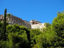 Akropolis-Wände, Athen, Griechenland Stockfotos