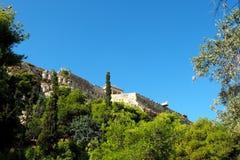Akropolis-Wände, Athen, Griechenland Lizenzfreie Stockbilder