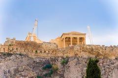 Akropolishügel in Athen, Griechenland Lizenzfreies Stockfoto