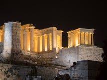 Akropolishügel mit Parthenon in Athen Griechenland Lizenzfreie Stockbilder