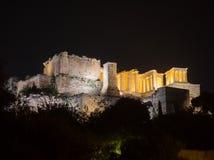 Akropolishügel mit Parthenon in Athen Griechenland Stockfotografie