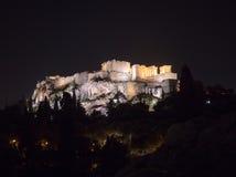 Akropolishügel mit Parthenon in Athen Griechenland Lizenzfreie Stockfotografie