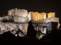 Akropolishügel mit Parthenon in Athen Griechenland Stockfotos