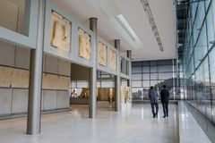 Akropolismuseum in Athene, Griekenland royalty-vrije stock afbeeldingen