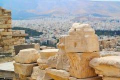 Akropolisrotsen in Athene, Griekenland Royalty-vrije Stock Foto