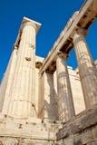 Akropolistempeldetails stockfotos