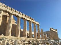 Akropolisverhaal stock afbeelding